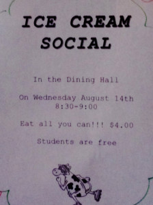 Students are free at the ice cream social