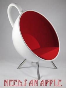 Tea Chair needs an apple