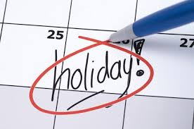 holiday on calendar