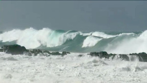 high surf - north shore Hawaii
